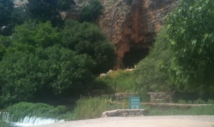 Pan's Cave and the flowing Banias Spring