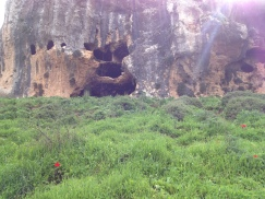 Hanya Cave as seen from below