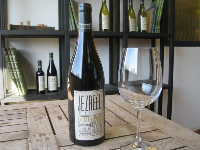 The Jezreel Valley Winery RedBlend, made from three varietals with an Israeli story