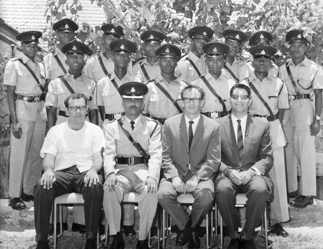 zvi with tanzanian police